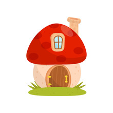 Small House Made From Mushroom...