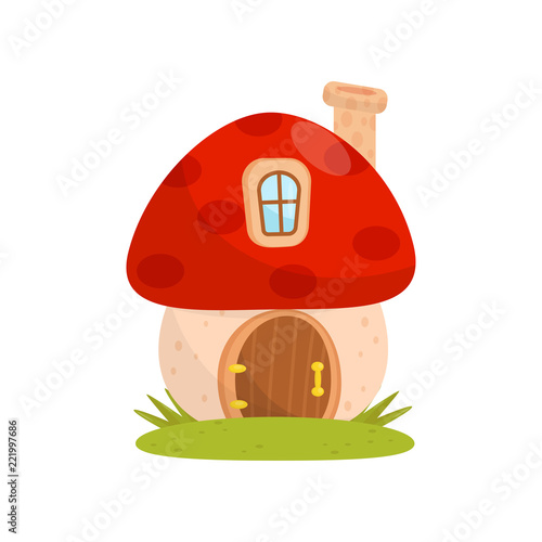 Photo Small house made from mushroom, fairytale fantasy house for gnome, dwarf or elf
