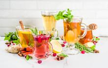 Various Autumn Winter Herbal Tea