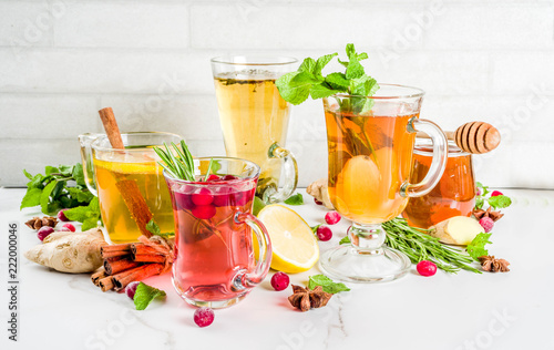 Various autumn winter herbal tea
