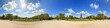 Beautiful 360 degree panorama in spring with a blue sky of the Eiffel tower in Paris, France