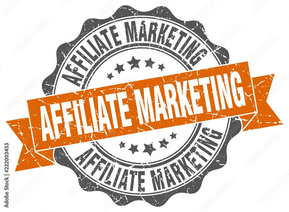 Fototapeta affiliate marketing stamp. sign. seal