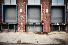 Old Warehouse Loading Dock In Brooklyn New York, USA.