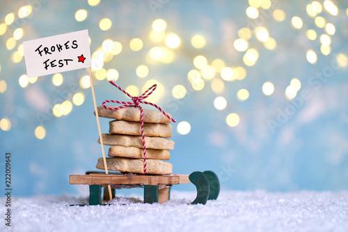 Fotografía  Weihnachtskekse naschen
