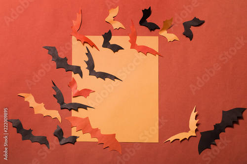 Poster Geometrische dieren paper bats on paper background