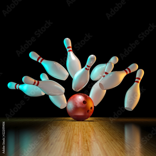 Photo image of bowling action