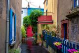 Fototapeta Uliczki - Trentemoult village in France colorful houses
