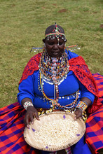 Maasai Woman Sorting Corn