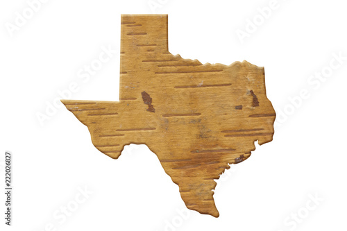 Spoed Foto op Canvas Verenigde Staten Map to the state of Texas USA in wood