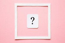 Card Of Question Mark In White...