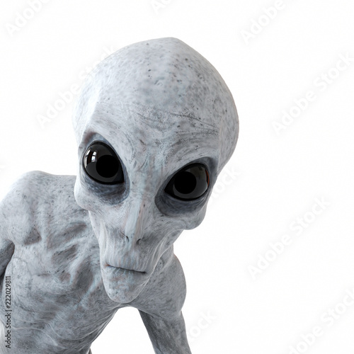 Foto 3d rendered illustration of a humanoid alien