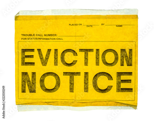 Isolated Eviction Notice Wallpaper Mural