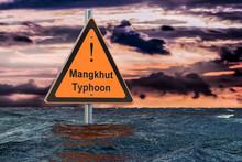 Typhoon Mangkhut, Flood Concept, 3D Rendering
