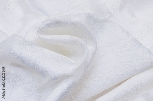 Fotografie, Obraz  Silk fabric with acetate and white lurex