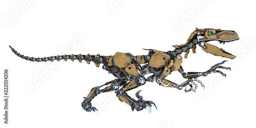 Fototapeta premium robot dinozaura na białym tle