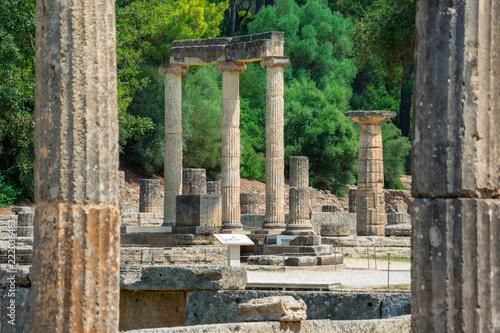 Fotografia  The ruins of ancient Olympia, Greece