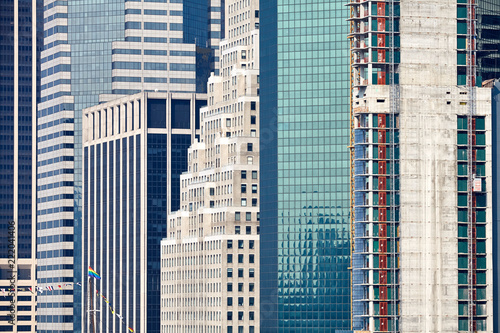 Foto op Aluminium New York City New York City old and modern architecture, urban background.