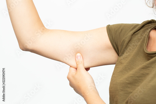 Photo adipose panniculus in the triceps