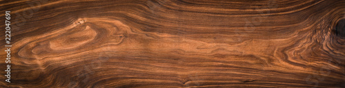 Foto auf Gartenposter Holz Walnut wood texture. Super long walnut planks texture background.Texture element