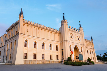Medieval royal castle in Lublin at sunset, Poland