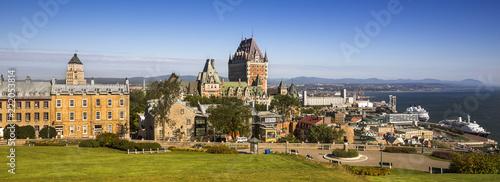 Fototapeta premium Stare historyczne miasto Quebec Kanada panoramiczne