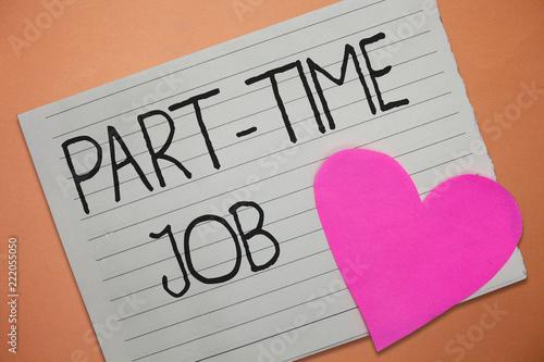 Fotografia, Obraz  Word writing text Part Time Job