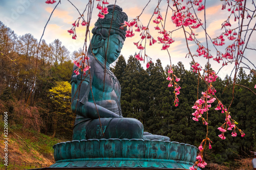The big Buddha - Showa daibutsu at Seiryuji temple in Aomori, Japan Canvas Print