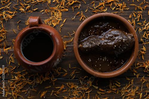 Tela Coffee and mole sauce