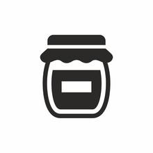 Jam, Honey Jar Vector Icon