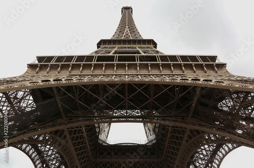 Deurstickers Eiffeltoren Eiffel tower from bottom in Paris France