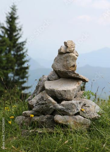 Fotografia, Obraz  heap of stones called CAIRN