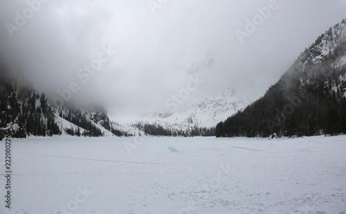 Fotografie, Obraz  pragser wildsee called Lago di Braies in Italian Language in Nor