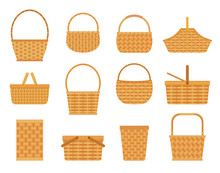 Collection Of Empty Baskets, I...