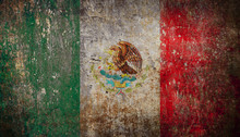 Old Grunge Mexican Flag