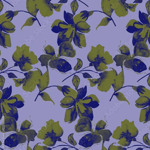 Background flowers, seamless pattern