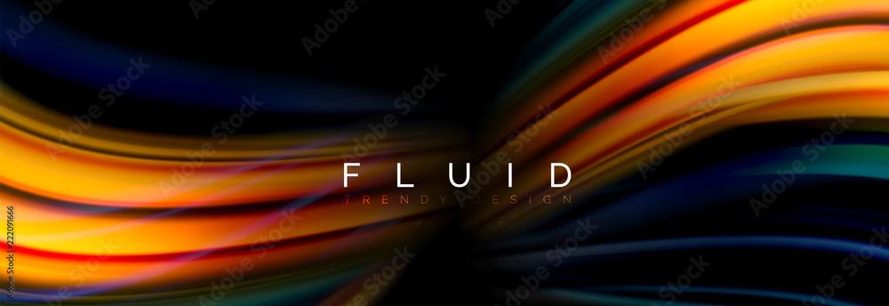 Fototapety, obrazy: Fluid color motion concept