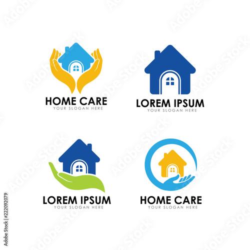 Home Care Logo Design Template