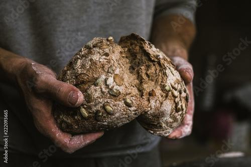 fototapeta na szkło Breaking Bread. Food