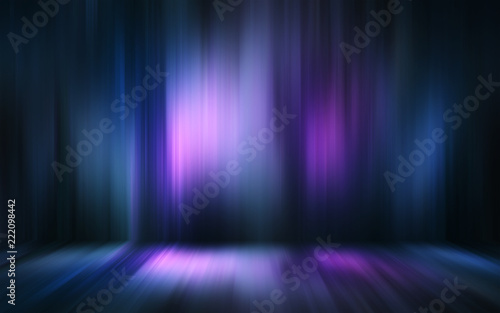 Foto op Aluminium Abstract wave Abstract light effect texture blue pink purple wallpaper 3D rendering