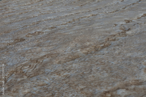 Fotografie, Obraz  a perennial snowfield in the Caucasus mountains close-up