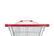 Shopping Cart Isolated On Whit...