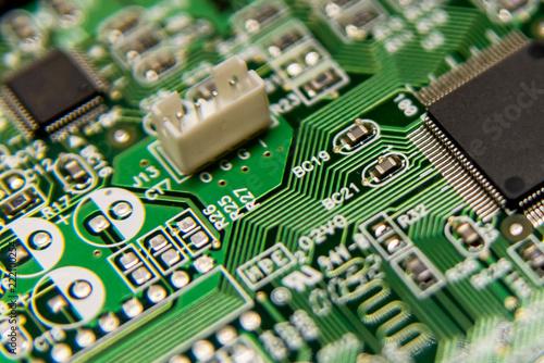 Foto  Circuit board computer background