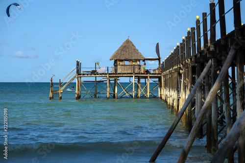 Anleger auf Sansibar am Indischen Ozean