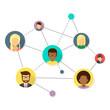 Soziales Netzwerk Flat Design Icon