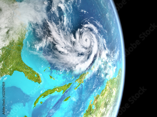 Fotografia  Hurricane in Atlantic