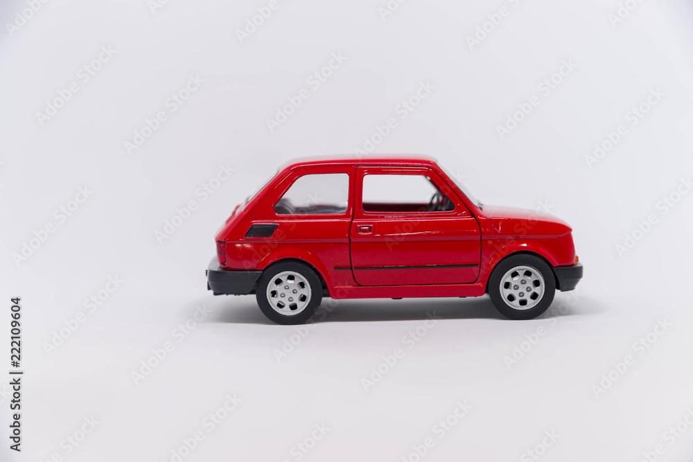 Fototapeta Samochód zabawka czerwony fiat 125p