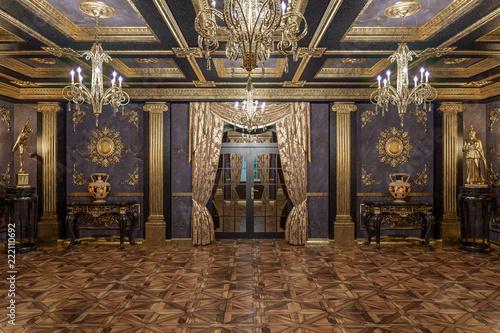 Obraz 3d rendering of the hall in classical style Cinema 4D Corona renderer - fototapety do salonu