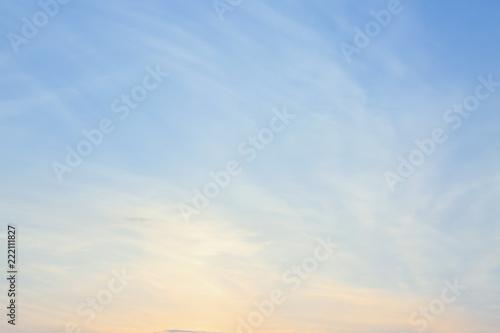 Beautiful sky at sunset Fototapet