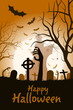 Leinwandbild Motiv Halloween Party Poster