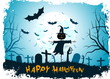 Leinwandbild Motiv Grungy Halloween Background